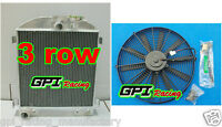 Gpi 1932 32 Ford Chopped Ford Engine At 64mm 3 Core Aluminum Radiator + Fan
