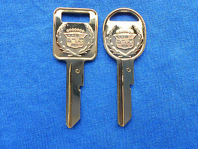 2 CADILLAC GOLD CREST NOS KEY BLANKS 68 72 76 80 87 88 89 90