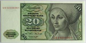 ALLEMAGNE - 20 MARK (1970) - Billet de banque (NEUF) 36C