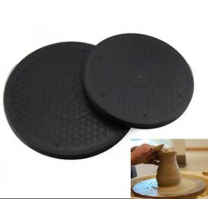Plastic Turntable Plate Pottery Clay Sculpture Tools 360 Flexible Rotation Q