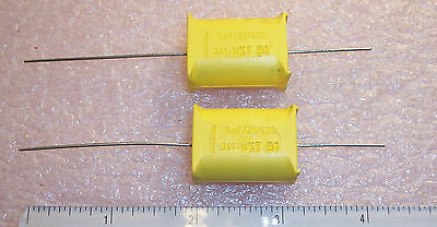 1uf 400V MOLDED AXIAL METALLIZED POLYETHYLENE PETP CAPACITORS MKT341 10 QTY