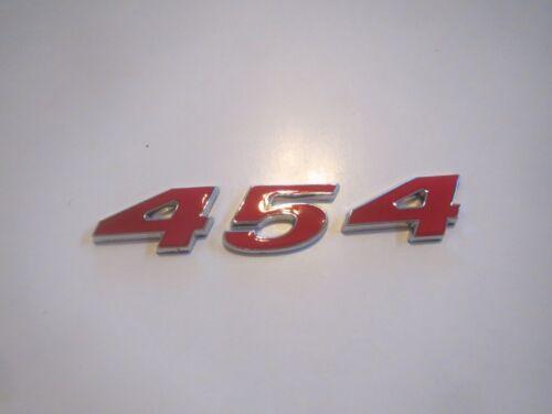 CHEVROLET 454 ENGINE ID FENDER HOOD SCOOP QUARTER TRUNK EMBLEM RED