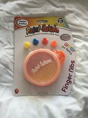 Finger Nibs Paint-Sation Mess Free Kids Paint Red Regular And Yellow Glitter