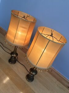 Antique Table Lamps Light Shades X 2