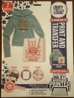 Iron On Fabric Transfer Paper Create Out Loud Paper 7 Sheets Letter 8.5 X 11