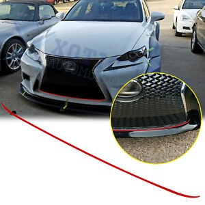 Red-Front-Grille-Pinstripe-Trim-Sticker-Decal-For-Lexus-IS200T-250-350-2014-2017