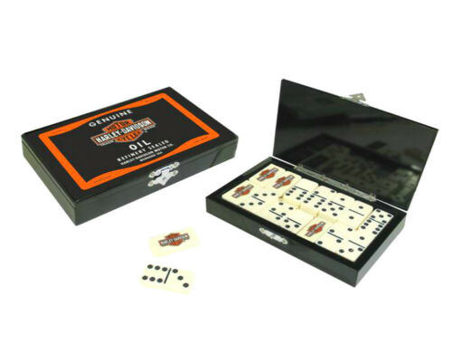 Harley-Davidson® Bar & Shield Domino Game w/ Case Set 7.75x5x1.75 66919D