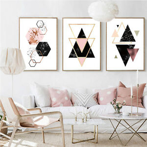 Geometry Abstract Canvas Poster Minimalist Wall Art Prints Home Decoration Ebay