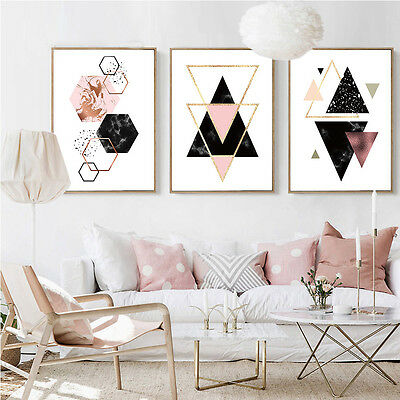 geometry abstract canvas poster minimalist wall art prints