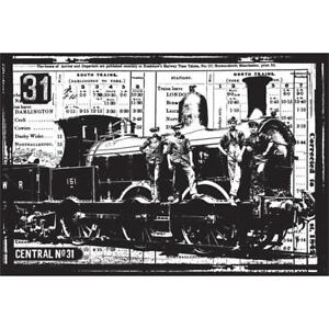 Superior Image Is Loading Train Steam Locomotive Cling Unmounted  Rubber Stamp DARKROOM