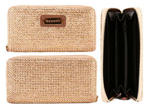 LADIES-TEXTURED-PURSE-WALLET-CARD-SLOTS-NOTE-SECTIONS-COIN-POCKET-GOLD-GIFT-NEW