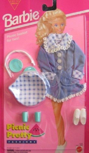 Easy To Dress 1994 Barbie Picnic Pretty Fashions /& Accessories