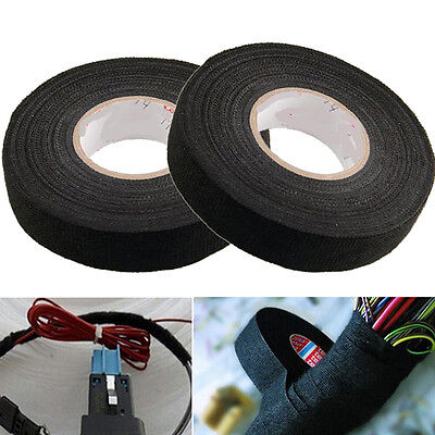 19mm x 15M Wiring Harness Velvet Cloth Tape For Car Automotive Heat Resistant