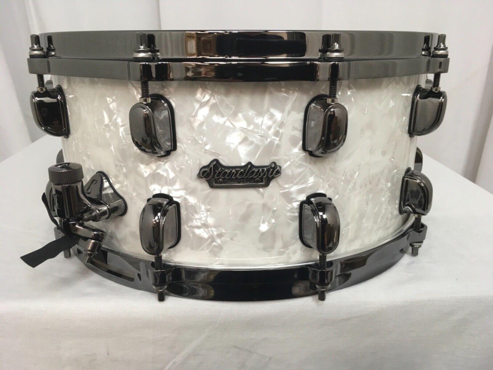 Tama Starclassic Maple 14  Dia X 6.5  Deep Snare Drum Snow Weiß Pearl NEW