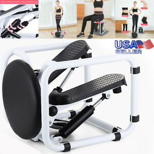 Home Gym Exercise Pedal Mini Stepper Cycling Bike Fitness Trainer W//Armrest Step