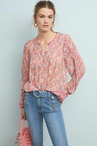 BNWT-ANTHROPOLOGIE-DAPHNE-FLORAL-BLOUSE-BY-RANNA-GILL-SZ-SMALL-RARE-HTF-RTL-150