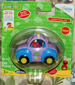 2008-Sesame-Workshop-Learning-Curve-Brand-Egg-Patrol-Easter-Egg-Elmo-Car-NEW-TOY