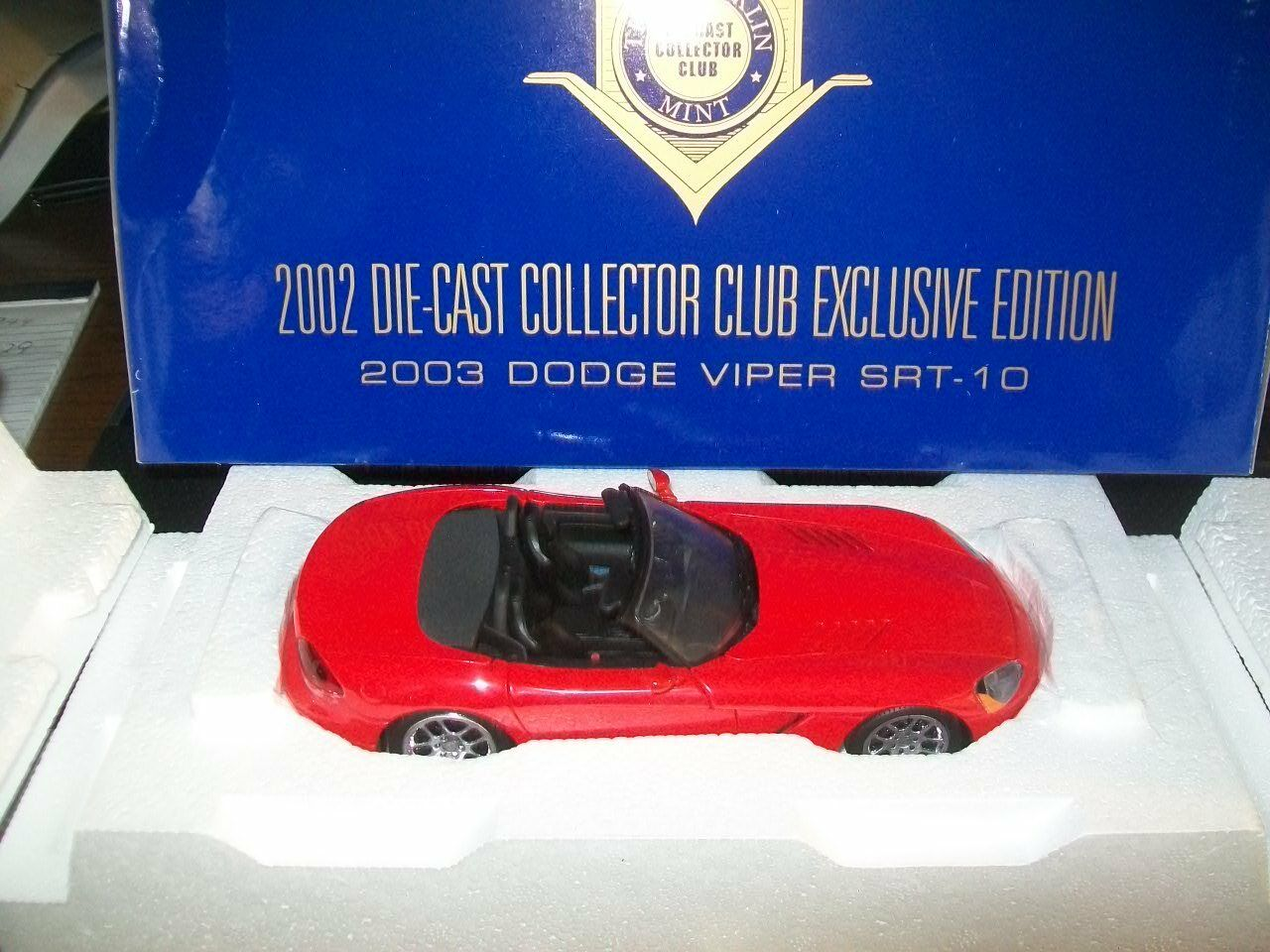 2003 Dodge Viper SRT-10 - Limited Edition-FRANKLIN Comme neuf-NEUF