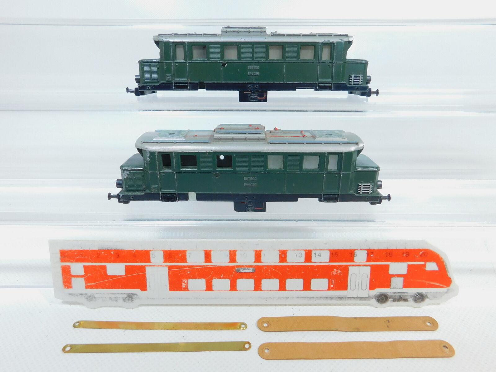 BZ343-1 2x marklin H0 Guss - tuttioggiamento e 44 039 per Set 800 E-Lok