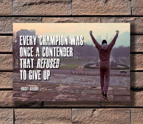 ZA140 Rocky Balboa Motivational Quotes Poster Hot 40x27 36x24 18inch