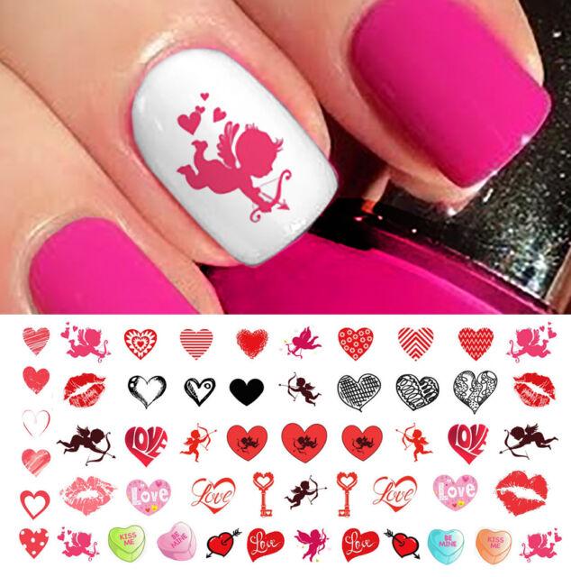 Valentines Day Heart Assortment Nail Art Waterslide Decals - Salon ...
