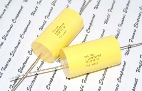 2µF 1pcs-REL-CAP RT 2uF 250V 5/%  Capacitor RT205J2.5A For Audio