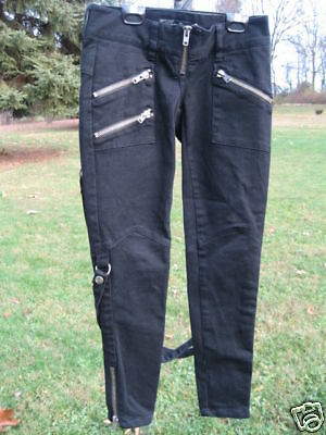 New Lip Service Black Bandage Mummy Straps Jeans Tapered