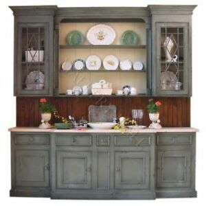 Image Is Loading Custom Hand Painted French Country China Cabinet Hutch