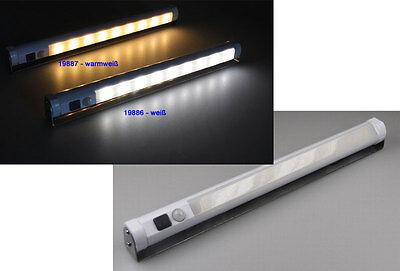 LED Unterbauleuchte mit Bewegungsmelder Schrankleuchte Batteriebetrieb WEISS NEU