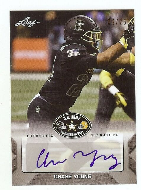 CHASE YOUNG - Ohio State Buckeyes - 2017 Leaf Army AUTOGRAPH RC #'d xx/25
