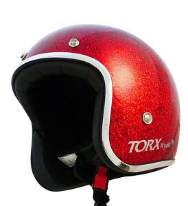 Casque-casco-helmet-jet-TORX-WYATT-ROUGE-Taille-XXL-63-64