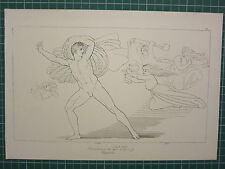 1880 PRINT JOHN FLAXMAN AESCHYLUS MYTHOLOGY ~ CHOEPHORI ORESTES FAIRES