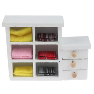 Details about Mini Cabinet Bedroom Furniture Kits Home For 1/12 Scale  Dollhouse Accessories