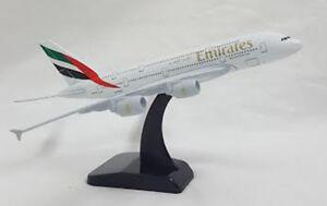16cm A380 Emirates Airline Dubai EK Metal Jumbo Display Aircraft Plane Model UAE