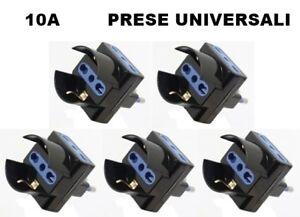 TRIPLA-ADATTATORE-CON-SPINA-10A-CON-TRE-PRESE-BIPASSO-UNIVERSALI-SCHUKO-5-PZ