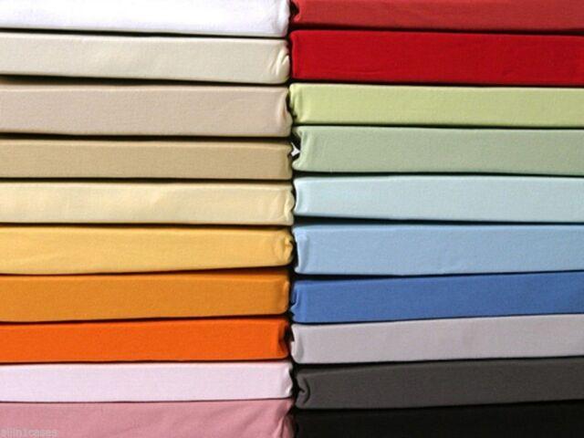 Plain Dyed Polycoton Drap-housse Simple, Double, Roi, Super King Tailles