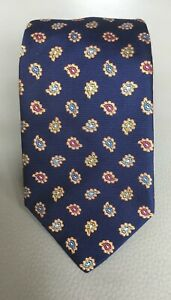 Holland-and-Sherry-Blue-Paisley-Design-Silk-Tie-Made-in-the-USA