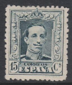 Espana-1922-9-15-C-de-profundidad-verdoso-Sello-de-pizarra-M-M-SG-381-A