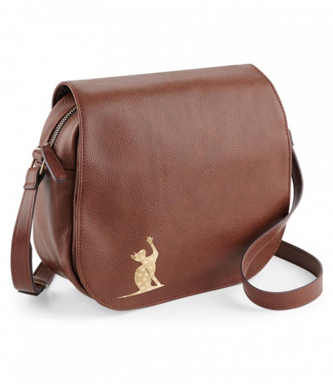 Sphynx Cat NuHide Saddle Bag Handbag Oriental Kitten feline fashion gift bag