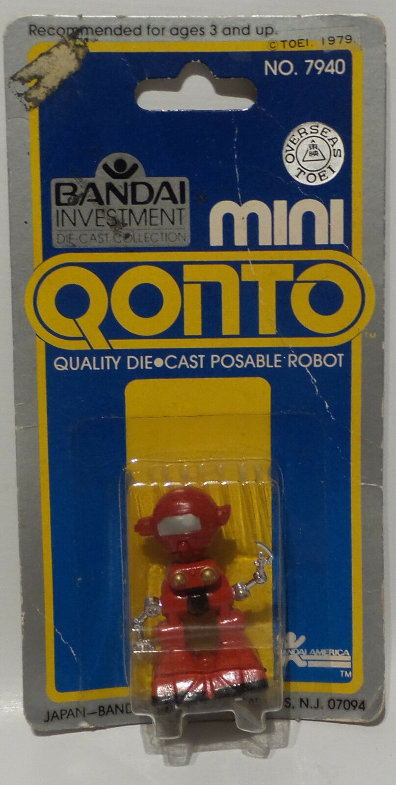 ROBOTS   MINI QONTO ROBOT MADE BY DANDAI IN 1979. SMALL DIE CAST FIGURE.  (MLFP)