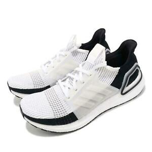adidas ultraboost 19 white grey black men running casual