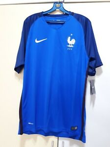 big sale 315ad ae073 Details about France National Football Team Home Soccer Jersey Euro 2016,  BNWT, Size: L
