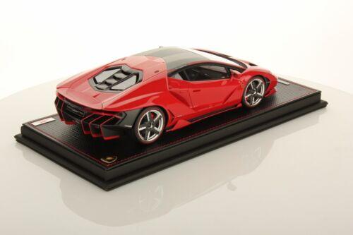 Mr Collection Lamborghini Mars Rouge Centenaire Avec Vitrine 1/18