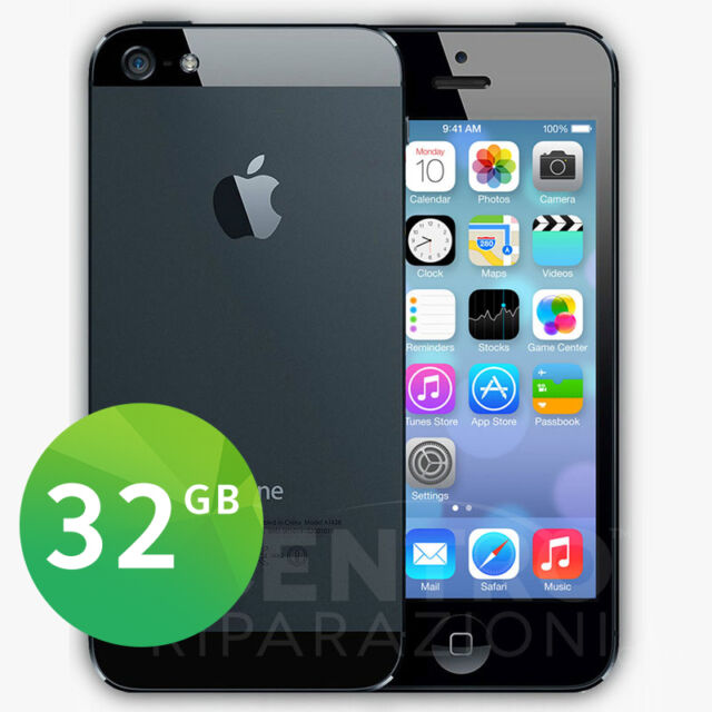 APPLE IPHONE 5 32GB NERO ARDESIA SIM FREE iOS 8 + ACCESSORI E GARANZIA
