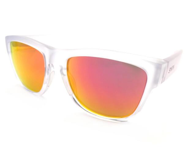 Smith - Clark Gafas de Sol Mates Transparente   Rojo Lente Espejo Modelo Ao 64c5320826a8