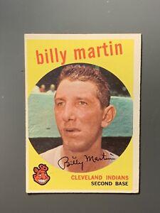 1959-Topps-295-Billy-Martin-HOF-VGEX-Cleveland-Indians