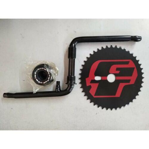 BMX Bicycle GT Power Series 1 Piece Crank Set Cr-Mo 44 Teeth