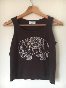 Debardeur-14-ans-en-coton-marron-elephant-perle-Imprimer-lt-T14015