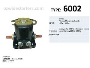 STARTER SOLENOID RELAY SWITCH FOR MERCURY MARINE 115 115HP