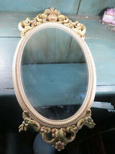 Antique-Mirror-Ice-Resin-Glass-Patina-Flower-Louis-15-Crackle-Vintage